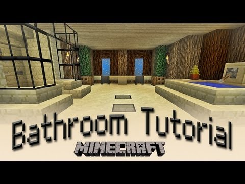 Minecraft:  How To Make A Bathroom Tutorial