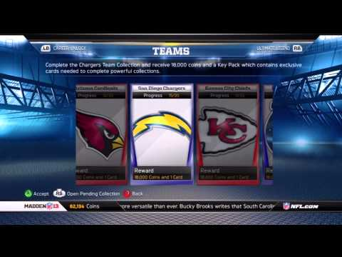 Madden 13: Madden Ultimate Team (Team Update/97overall/900+ Cards)