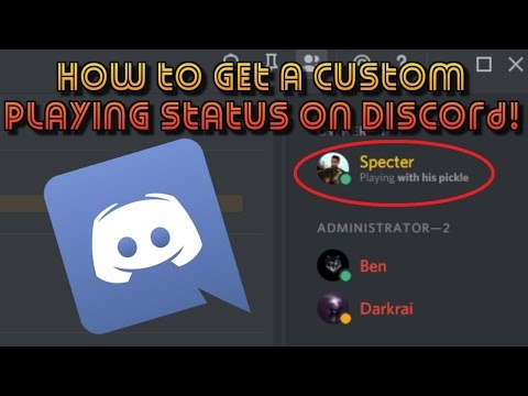 How to set a custom playing status on Discord! | Specter Tuts #1 | #PhantomCrew