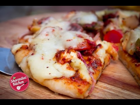 Homemade Pizza In 3 1/2 minutes   PIZZA IN MICROWAVE METHOD  Sharmilazkitchen
