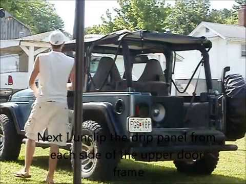 Jeep Wrangler TJ   Soft Top Removal