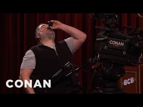 Tony The Cameraman Drinks Poison  - CONAN on TBS