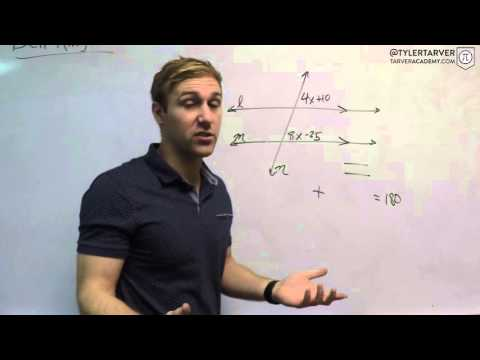 22. Parallel Lines with a Transversal | Problem of the Day