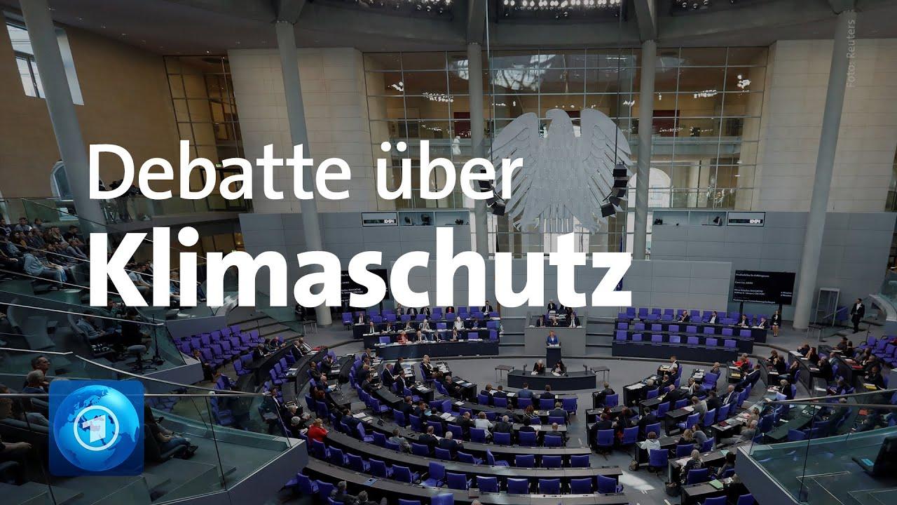 Bundestagsdebatte zum neuen Klimaschutzprogramm der Regierung