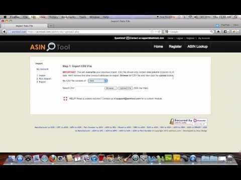 ASIN Lookup - SKU, EAN, UPC, Part Number