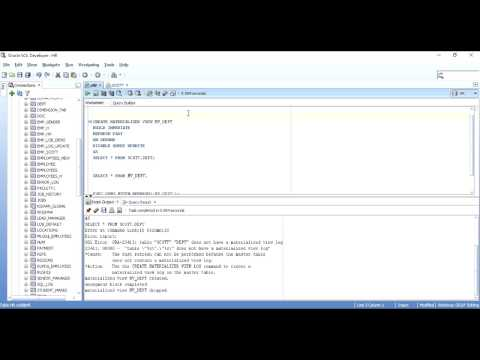 Materialized Views in Oracle  (Part - 2 Practical Implementation with Examples)