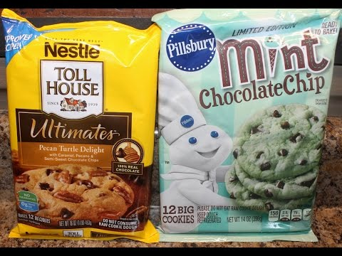 Nestle Toll House Pecan Turtle Delights & Pillsbury Mint Chocolate Chip Cookie Review