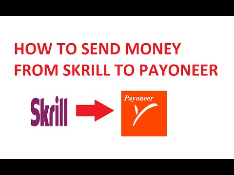 How To Send Money From Skrill To Payoneer