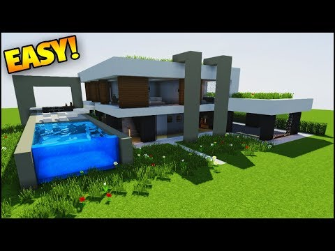 Minecraft: How to Build a Modern Mansion - (How to Build a House/Mansion in Minecraft)