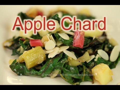 Paleo Swiss Chard Recipe With Apples, Sliced Almonds | Rockin Robin Cooks
