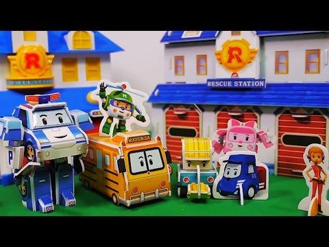 Robocar Poli Amber Paper Craft Car Toys/ How to Make Poli