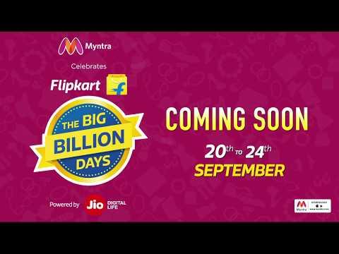 Myntra Celebrates Flipkart's Big Billion Days! Enjoy 50-80% OFF from 20th - 24th September