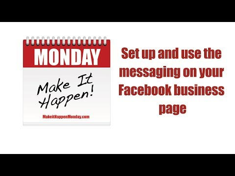 Set up and use the messaging on your Facebook business page