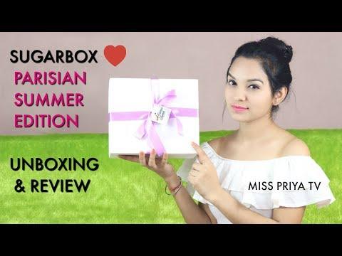 SUGARBOX UNBOXING & GENUINE REVIEW | PARISIAN SUMMER EDITION  BOX | Miss Priya TV |