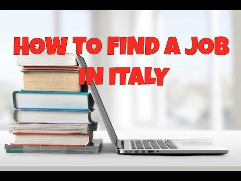 HOW YO FIND JOB IN ITALY | RARA ITALIANO | ITALY