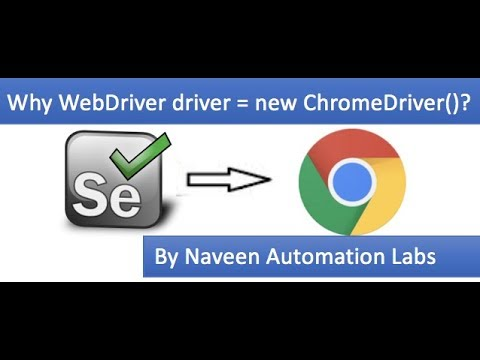 Why WebDriver driver = new ChromeDriver ? || First WebDriver script to launch Chrome Browser