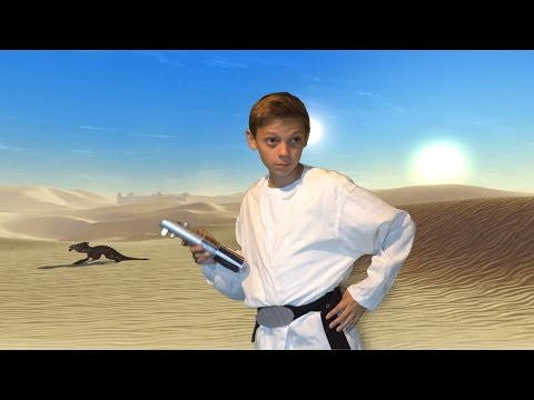 Make Your Own Luke Skywalker Costume and Lightsaber! (DIY)