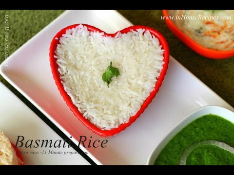Rice in microwave (Basmati) 11 Minutes Recipe