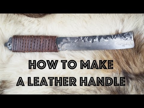 How to make A Leather Knife Handle // Leatherwork