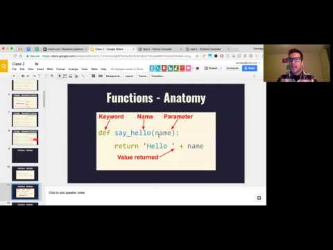 Free Python Course - Class 2 - Intro to functions and loops (Fridays group)