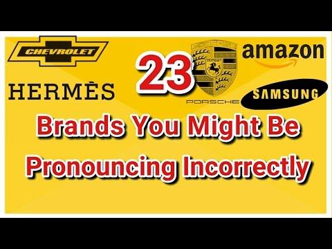Brands you pronounced wrong for lifetime - NIKE, ADIDAS, AMAZON, ADOBE, PORSCHE, HERMÈS