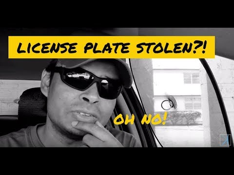 Here is What to do if Someone Steals Your License Plate