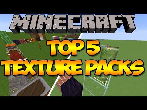 Minecraft: Top 5 Texture Packs (Resource Packs) (1.8)