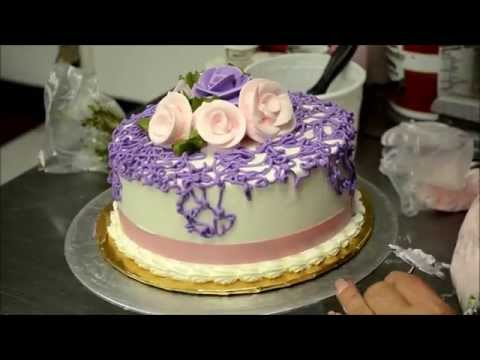 Making of a Vegan birthday cake non dairy whipped cream flowers