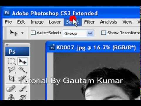 How To Colour A Black and White Picture In Adobe Photoshop CS3