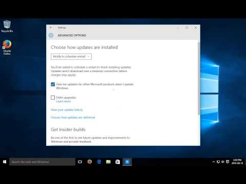 Windows 10 - Start Windows Update - Windows Update Settings