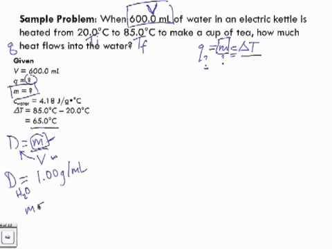 Specific Heat Capacity Sample Problem 1