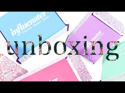 INFLUENSTER UNBOXING!! What's Inside?????