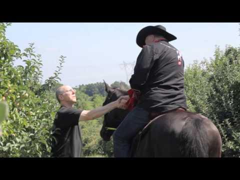 Ed Rabel Campaigns on Horseback