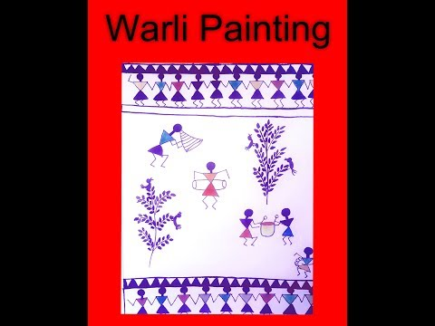 Basic Warli painting  for Beginners | Getting started