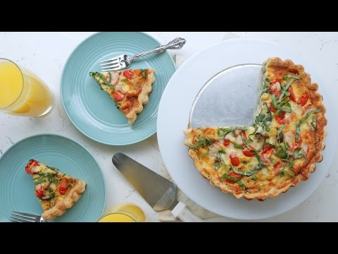 Spring Vegetable Quiche Recipe | The Inspired Home