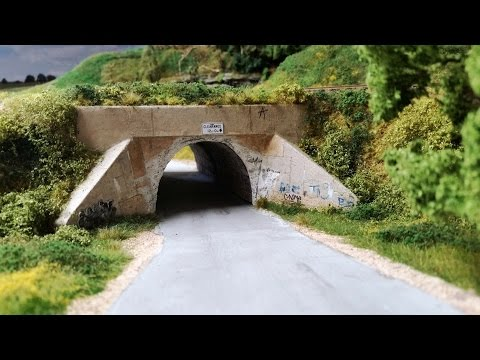 Model Railroad Update 62: Underpass Scenery & Road Detailing