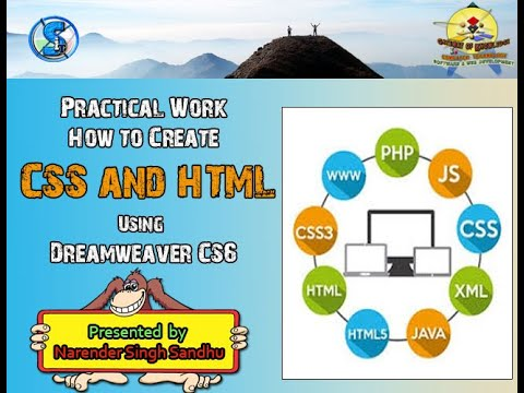 Create Link CSS to HTML Page using DW CS6