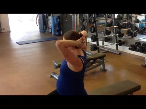 Pregnancy Exercise Shoulder and Upper Back Stretch and Mobility