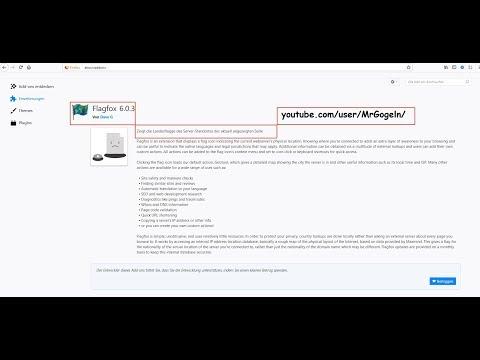 Flagfox, zeigt den Standort des Servers der aktuellen Website.