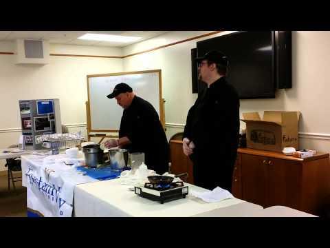 Chef teach how to make matzo brei