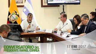 Conversatorio del Presidente Rafael Correa con medios de comunicación desde Guayaquil. 17/01/2017