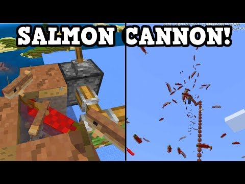 Minecraft Xbox / PE Aquatic Build - SALMON CANNON!