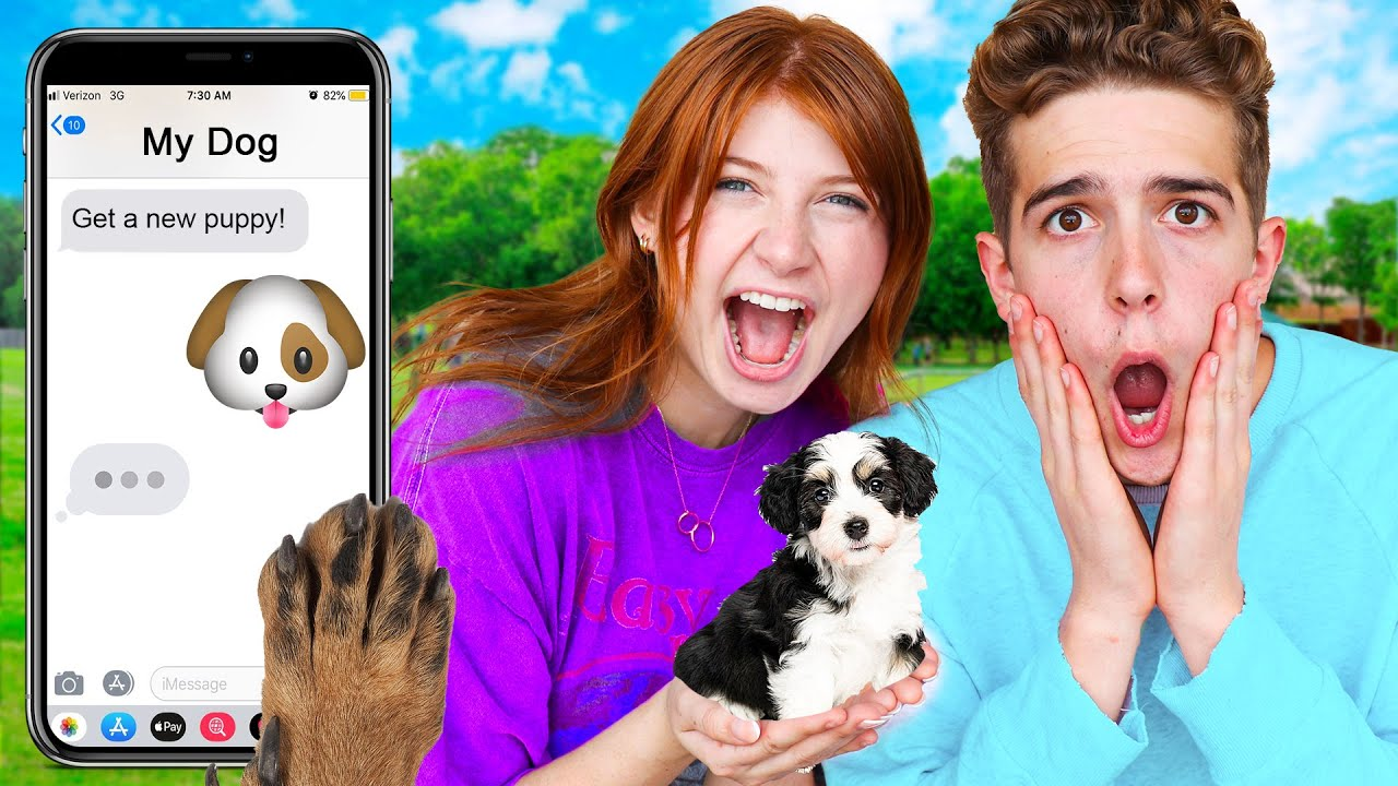 I let my DOG control my DATE NIGHT! *Adorable😍*