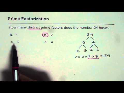 01 Distinct Prime Factors