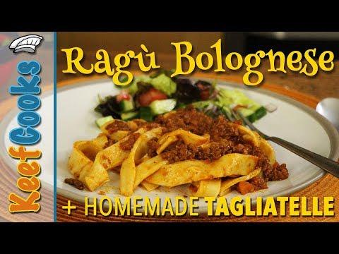 Ragu Bolognese   Italian Bolonese Sauce   Homemade Tagliatelle