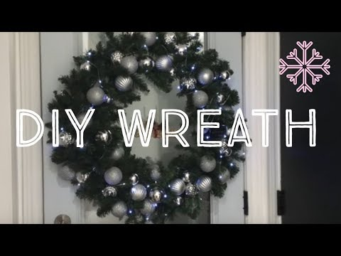 Make your own Christmas Wreath  - how to make a Christmas wreath / christmas decoration for doors