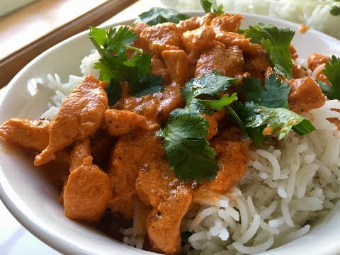 Tandoori Chicken Tikka Curry With Basmati Rice