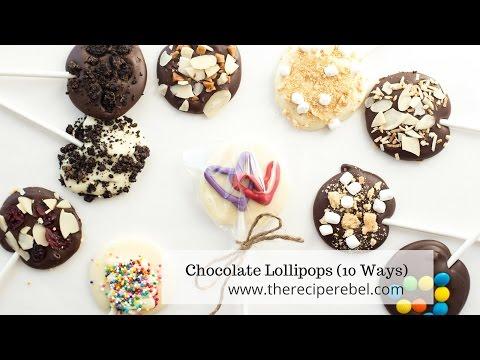 Valentine's Day Chocolate Lollipops Recipe & Tutorial