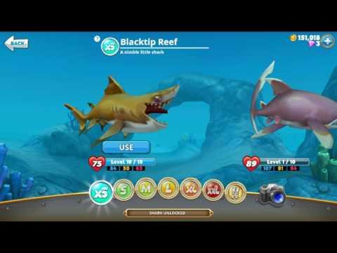 Hungry shark world - great white shark's price