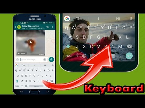 How to set wallpaper on keyboard
